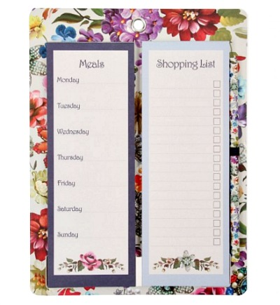 WIN paperchase magnetic meal planner and shopping list notepad