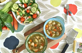 Spring Salad & Chicken Soup with Bearfaced Groceries