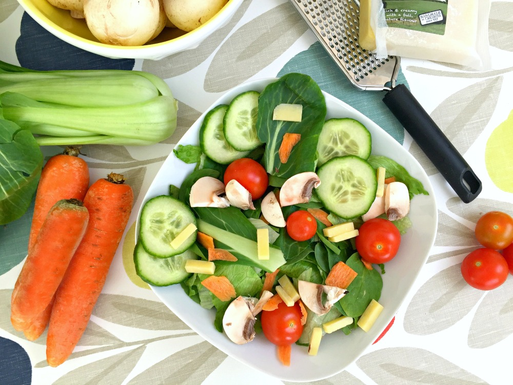Bearfaced Groceries Competition Recipe Spring Salad and Chicken Soup