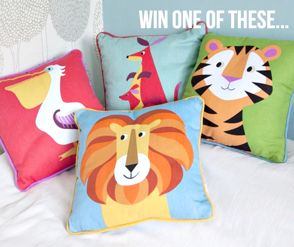 win share with me blog hop prizes animal cushions dotcomgiftshop