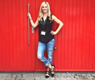 jenny with red door