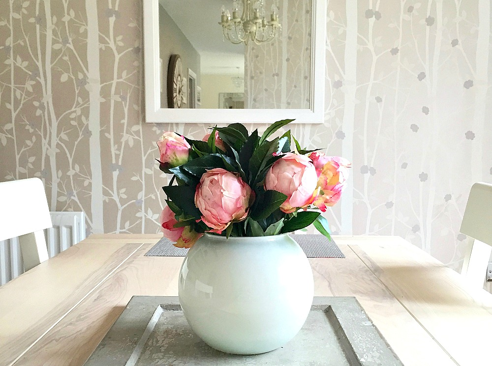 Appleyard London peonies faux centerpiece #littleloves