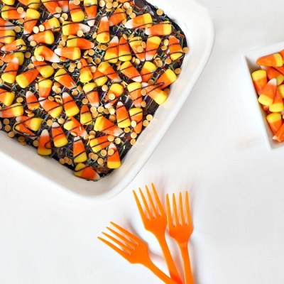 Easy Candy Corn Halloween Brownies Recipe