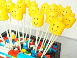Kid's Birthday Party Lego Marshmallow Pops recipe