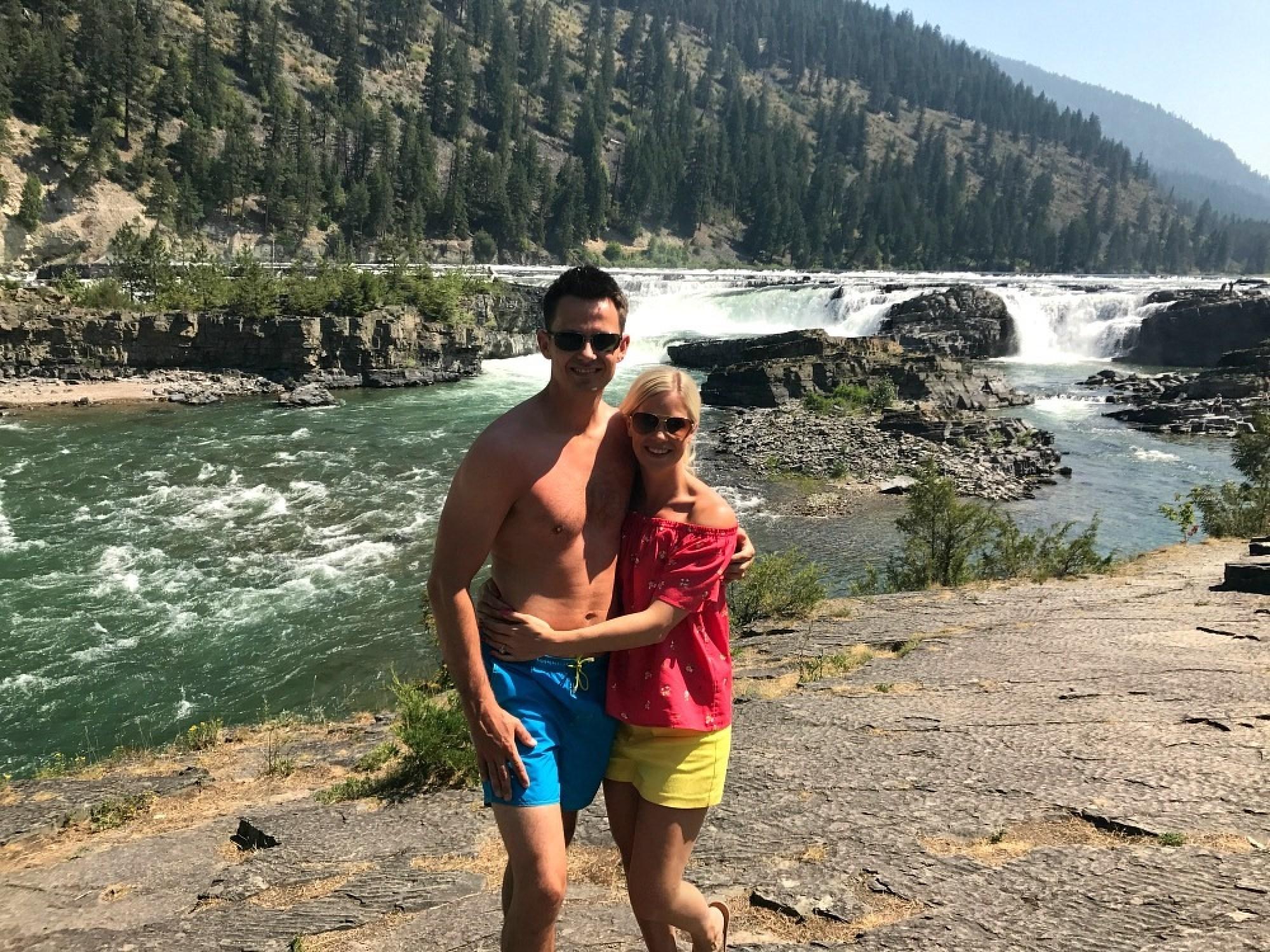 Kootenai Falls and Whitefish Montana weekend road trip America