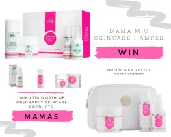 Mama Mio Skincare Mama Hamper Giveaway pregnancy lotion belly lotion pillow spray relaxing bath oil