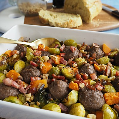 Meatballs & Brussels Sprouts for Father's Day
