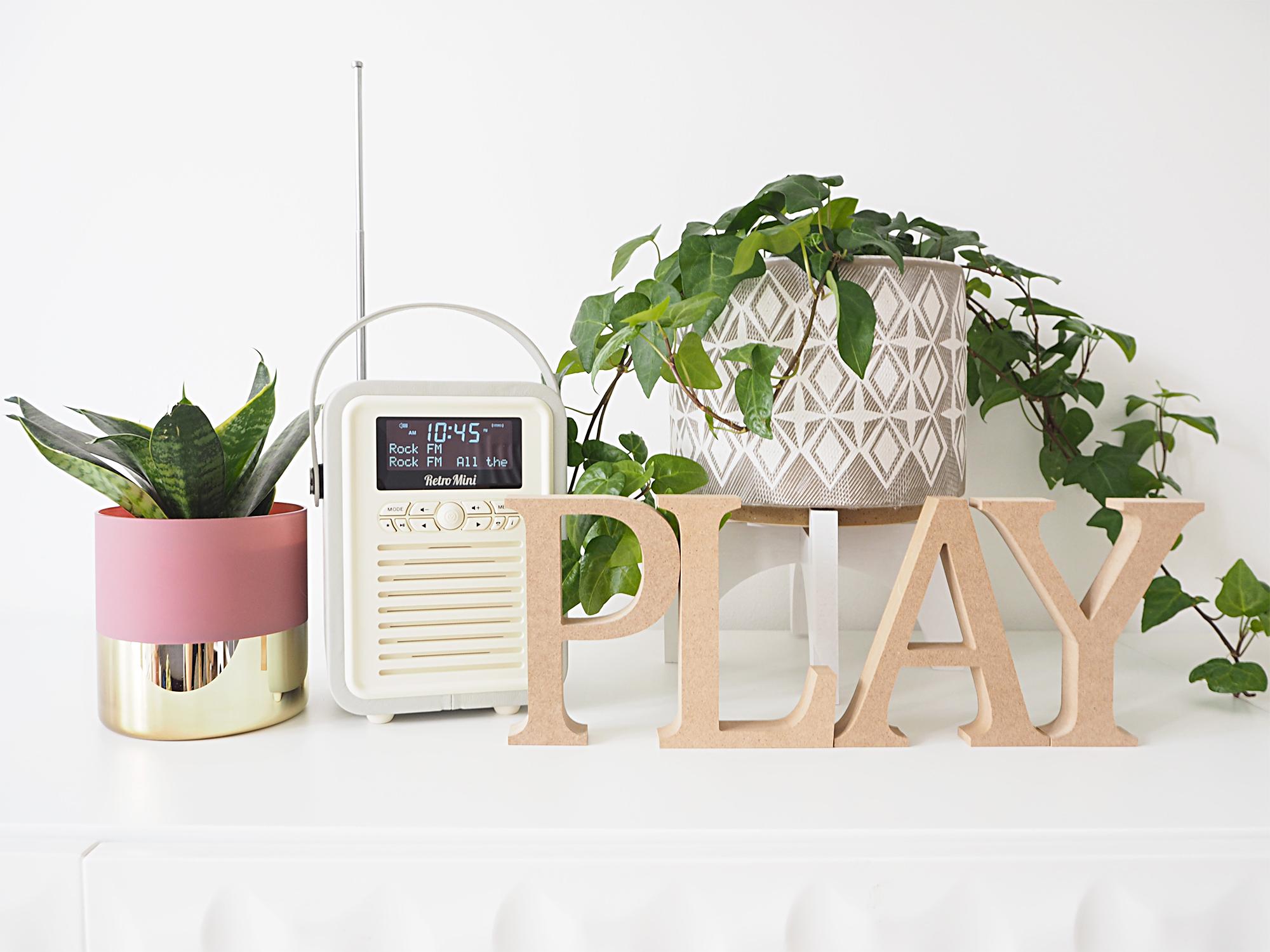 QV mini retro radio grey from QVC UK