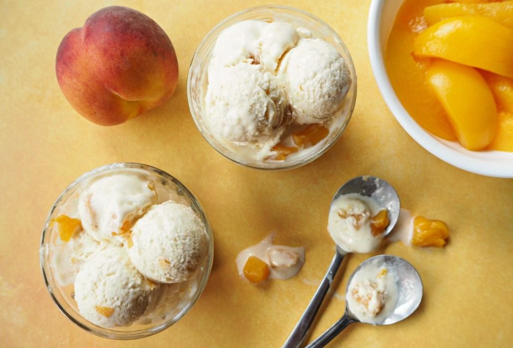 Chunky Peach Ice Cream