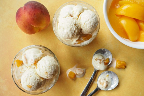 Chunky Peach Ice Cream