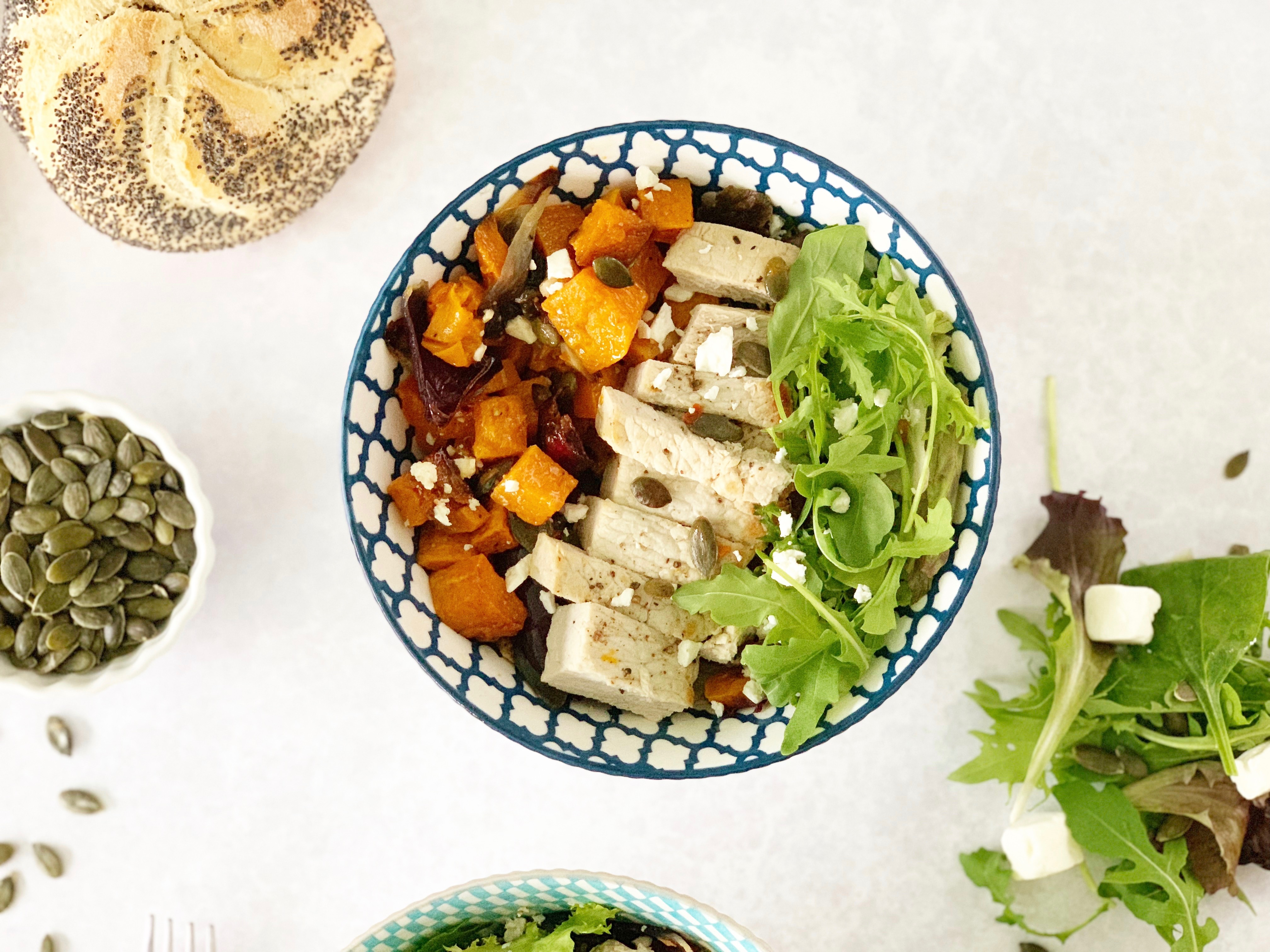 Garlic Pork Steaks with Honey Roasted Butternut Squash by Hello Fresh