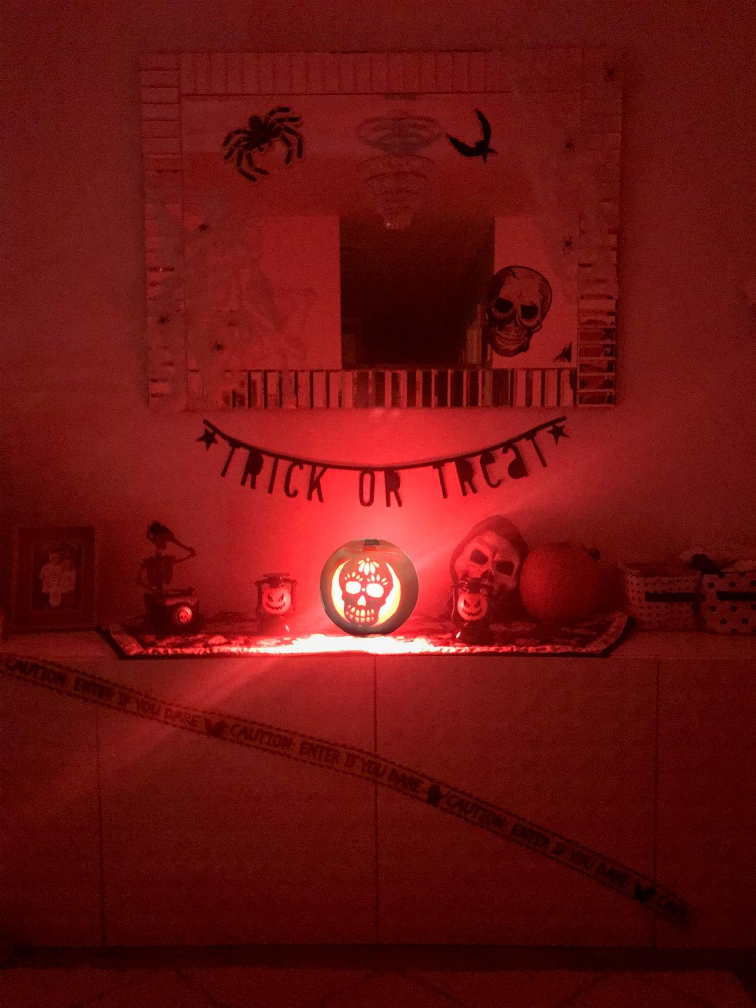 Carving Pumpkins Philip Hue Go Spooky lighting
