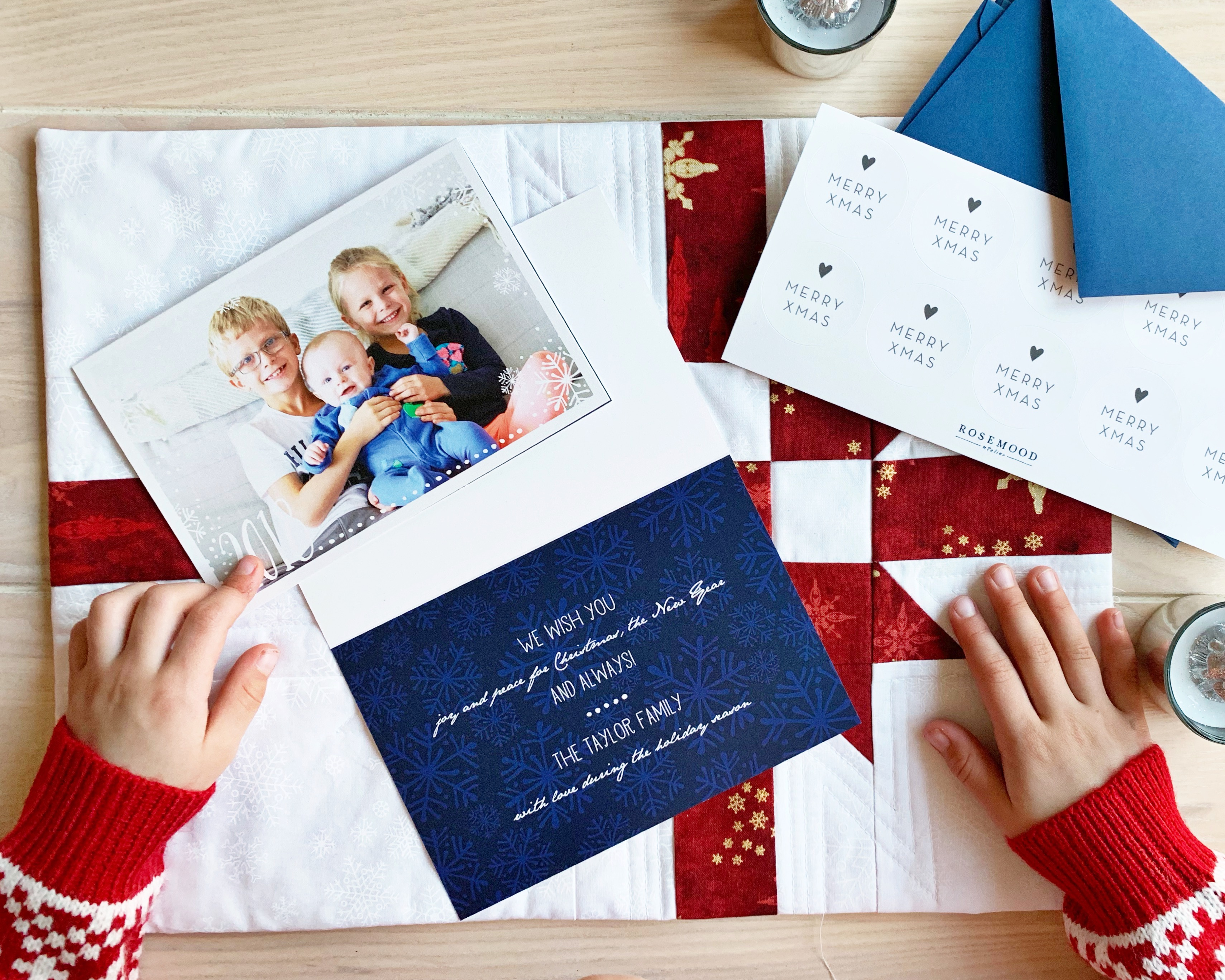 Getting ready for the holidays with Rosemood Christmas Cards