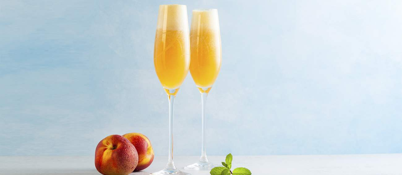 Peach Bellinis Italy Italian Cocktails