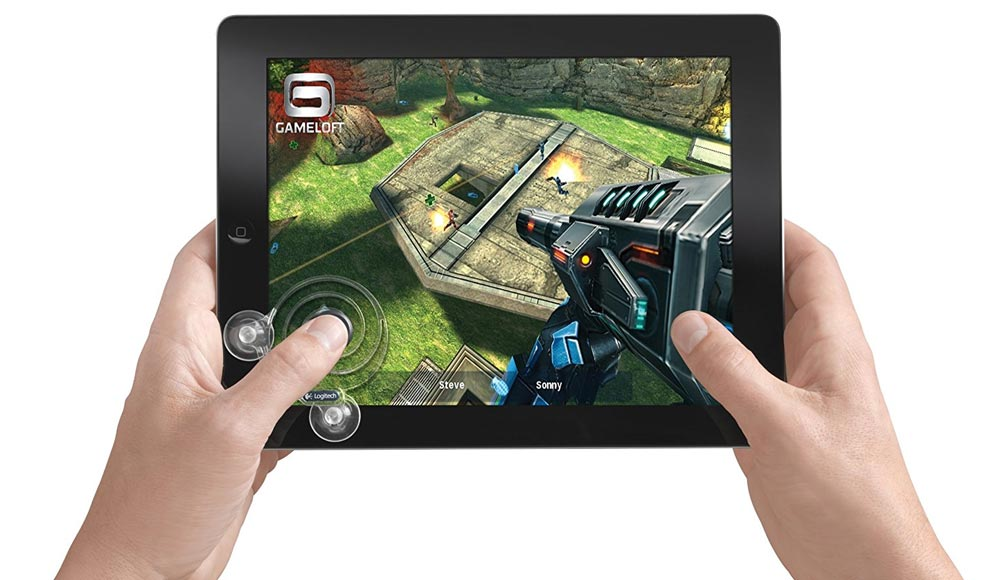 Logitech suction cup gaming accessory for iPad