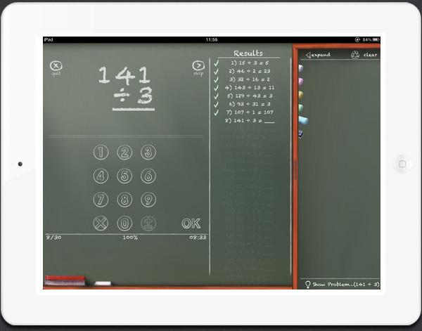MathBoard educational iPad app