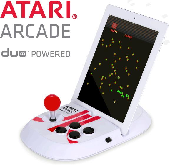 Atari Arcade-Duo retro style iPad joystick