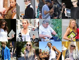celebrities with iPads