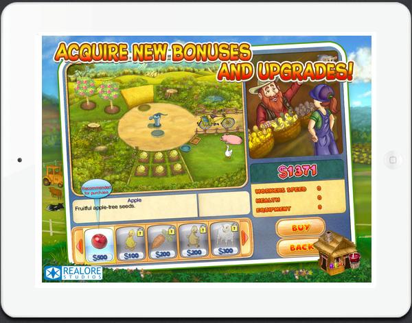 new iPad game Farm Mania 2 HD