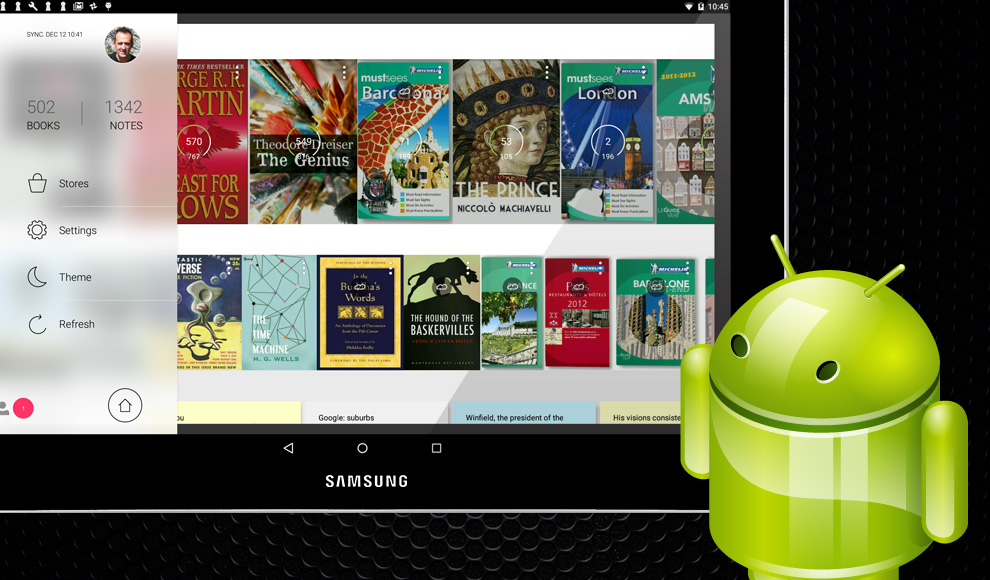 Mantano Reader app for Android