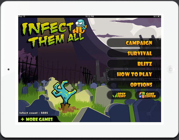 Infect Them All HD new iPad zombie game