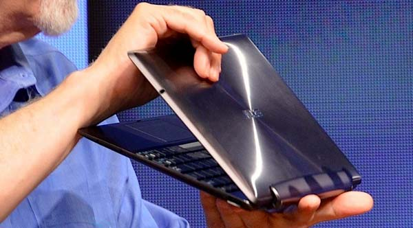 Slick new look and brushed aluminum body on the Transformer Prime
