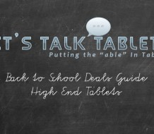 2017 Back to School Deals Guide High End Tablets