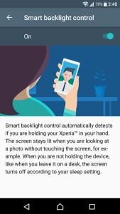 Sony Xperia XA1 review battery smart backlight control
