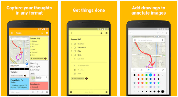 Google Keep productivity app for Android