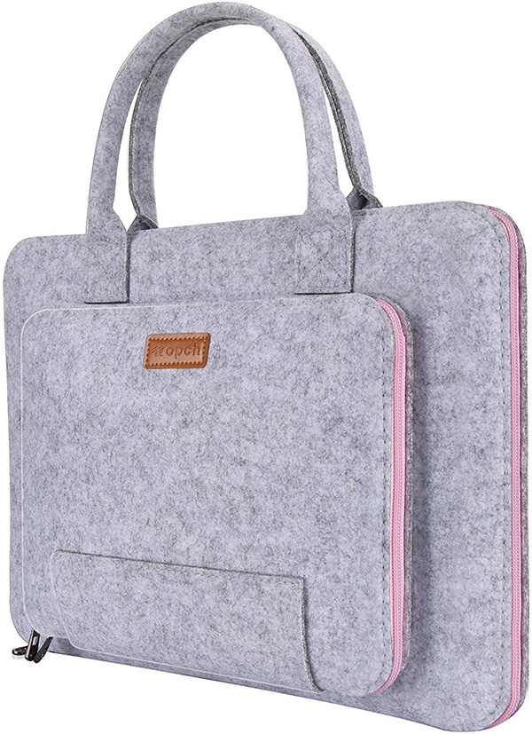 Ropch 13.3 Inch Felt Sleeve Carrying Bag for Laptop or Tablet PC