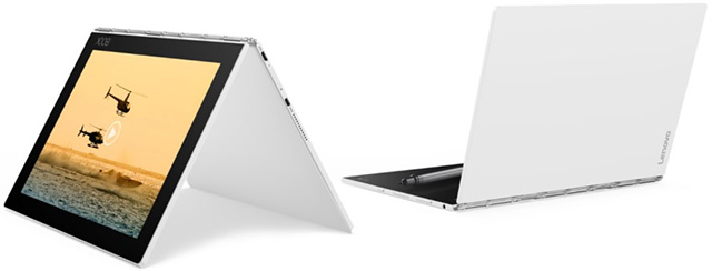 new white version of Lenovo Yoga Book tablet