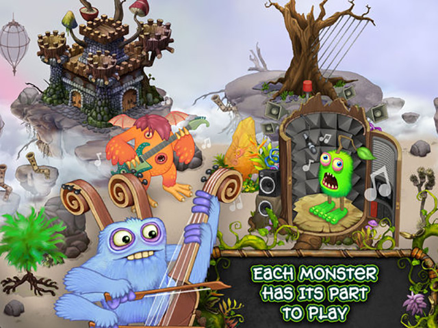 My Singing Monsters iOS music app