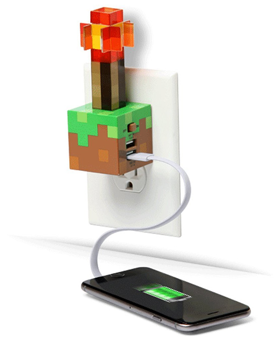 ThinkGeek Minecraft Redstone Torch USB Wall Charger