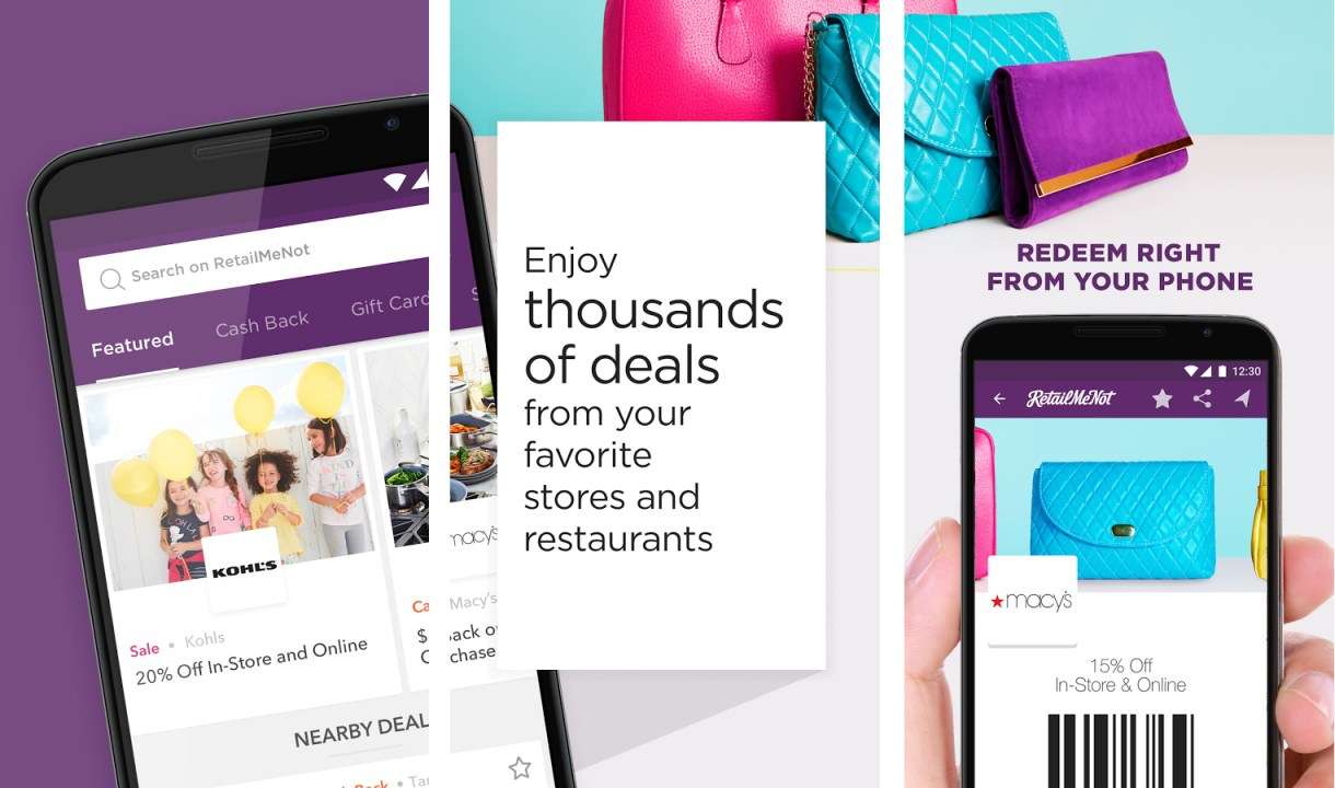 RetailMeNot shopping app for Android