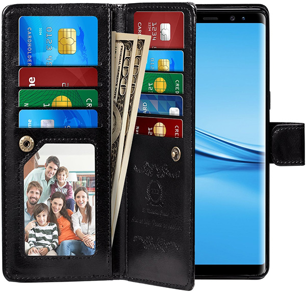 Pasonomi Samsung Galaxy S9 Plus Wallet Case