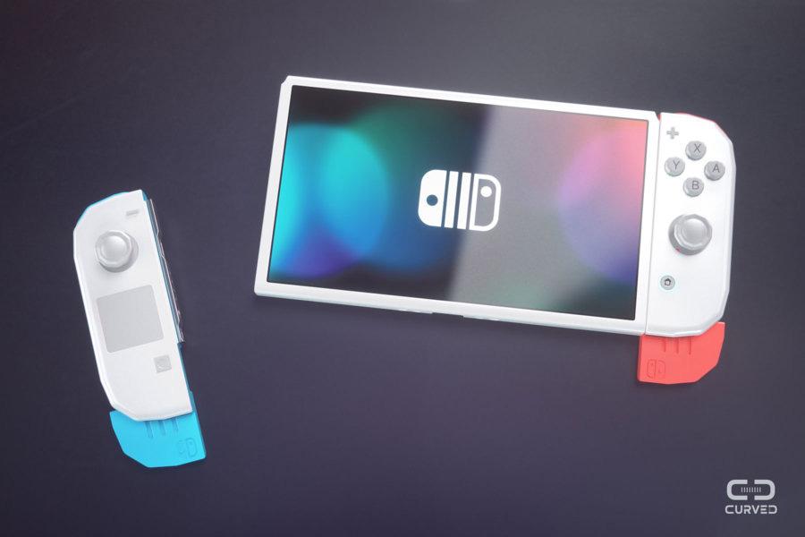 Curved Labs Nintendo Switch 2 Concept extendable rails Joy Con rails