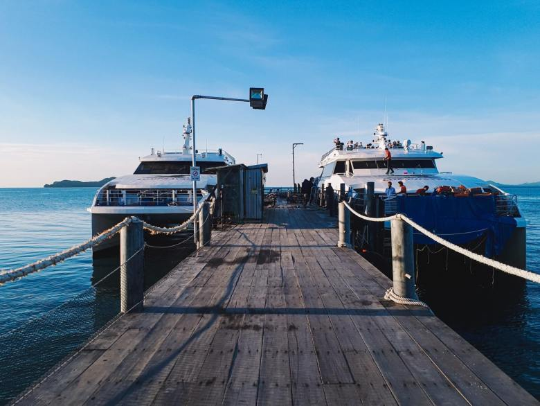 The pier for the ferries in Chumphon
