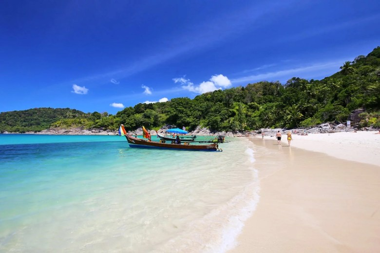 Freedom beach is a beautiful beach in Phuket for swimming