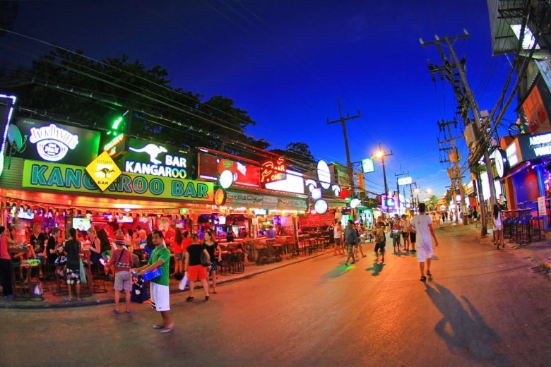 Bangla Road is a party street in Phuket Thailand.