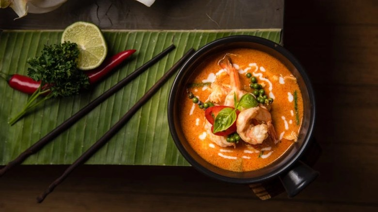Tom yum goong is a spicy soup that is loved in Thailand