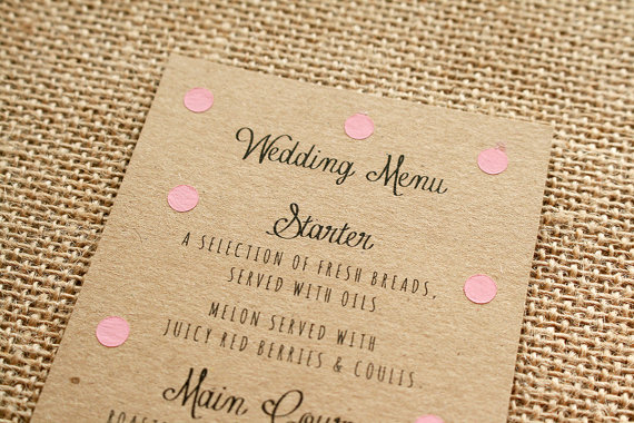 kartka z menu