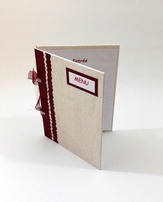 menu weselne w formie książeczki