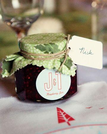 Słoiki słodkie prezenty dla gości,