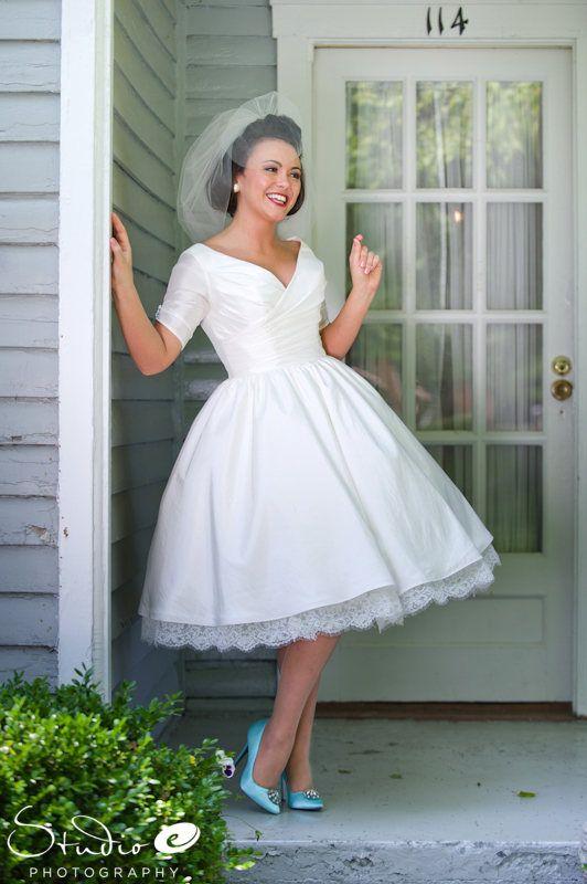 suknia ślubna w stylu pin-up