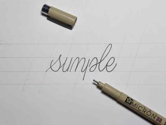 Calligraphy Letters Easy Step By Step