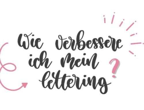 Wie verbessere ich mein Lettering?