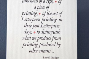 Functions of Type letterpress broadside