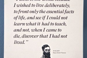 Thoreau quote broadside