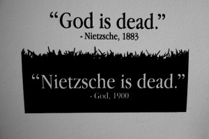 God answers Nietzsche