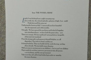 from The Purse-Seine poem by Robinson Jeffers.  This broadside was letterpress printed in a limited edition by Linomarl Marlan Beilke.  It measures approximately  10 X 14